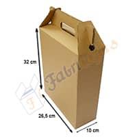 caja de carton tipo maletin