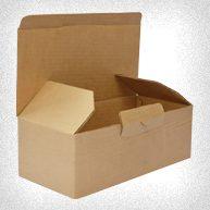caja de carton microcorrugado cierre con pestaña