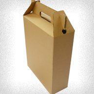 caja de carton tipo maletin o para anchetas